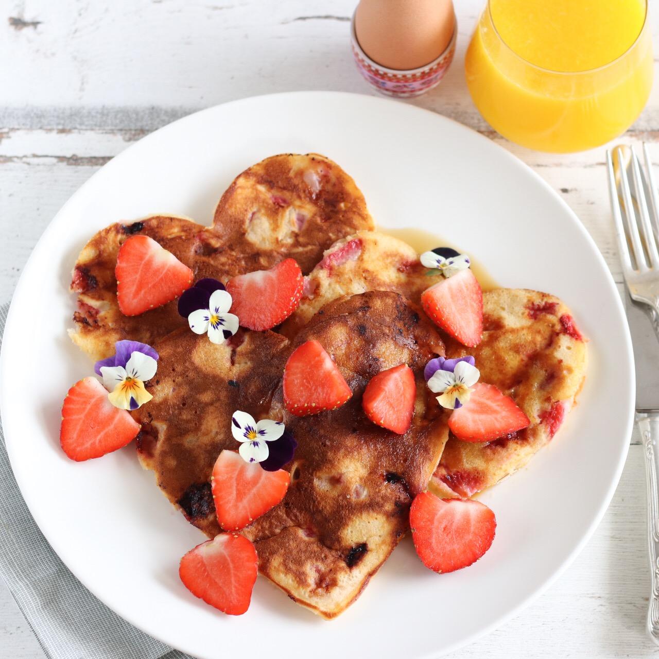 Moederdag ontbijt pancakes